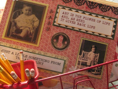 Decorated file folder using graphics and embellishments