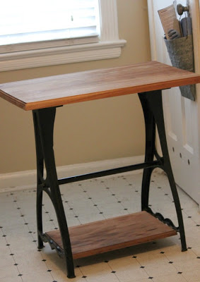 Small wood and metal table