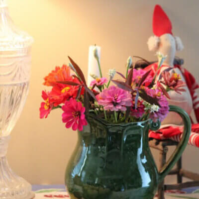 Flowers & Still Working In The Kitchen