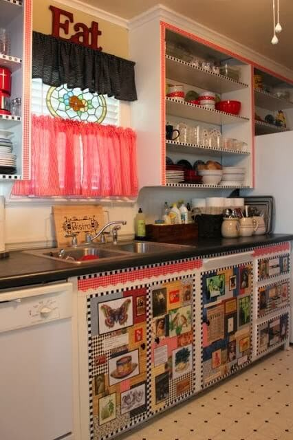 My Country Woman Feature Is Now, How To Decoupage Kitchen Cabinets