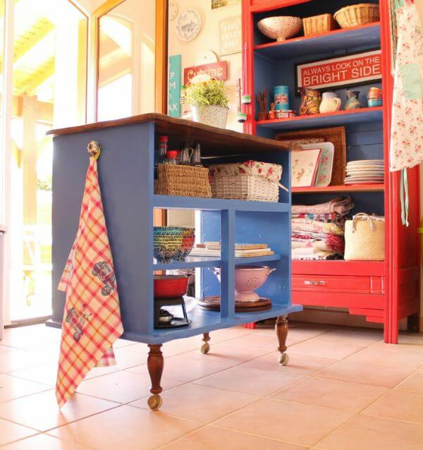 ... Furniture Turned Into A Kitchen Island. It Shows Real Creativity. You  Just Might Have A Piece Of Furniture You Can Use In Your Basement Or Attic  And It ...