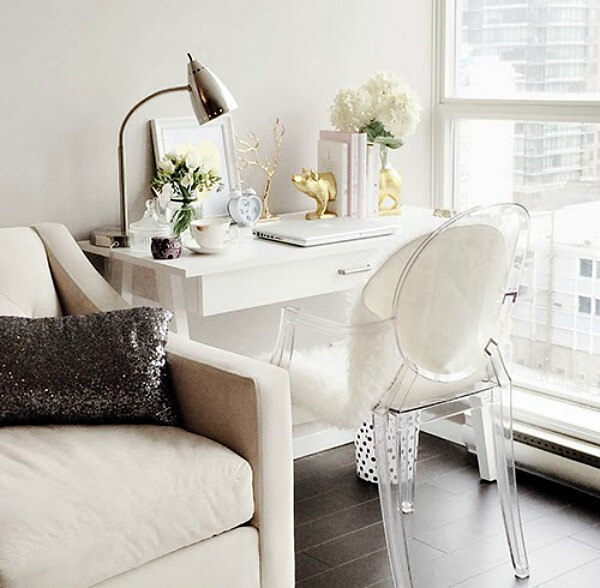 no room for a home office but wait · cozy little house