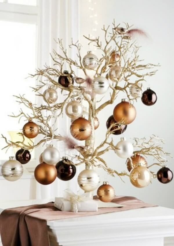 a christmas tree doesnt have to be the customary real or artificial tree we are accustomed to it can be something of your own creation like this branch