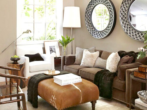 Putting A Large Plant Behind The Chair Defines It And Also Softens The  Space.