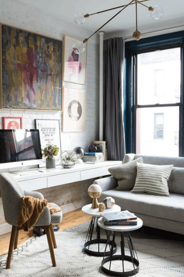 Small Condo Living Room Design: Best Ways To Create A Home Office In Small Spaces · Cozy