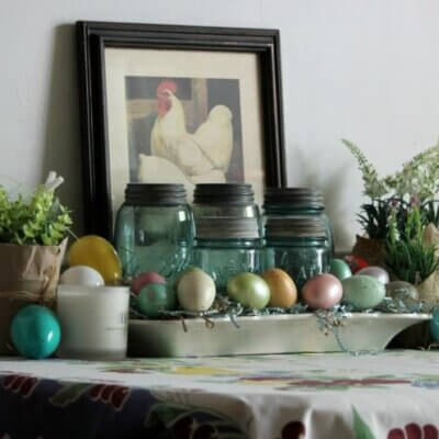 Spring Table Vignette