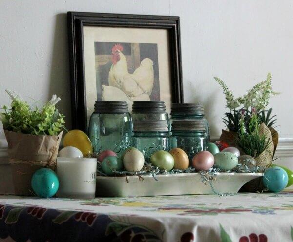 Spring Table Vignette