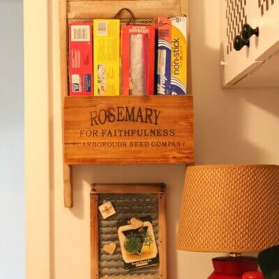 Storage Project For My Kitchen Wall