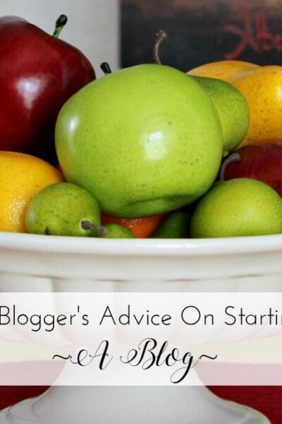 A Blogger's Advice On Starting A Blog