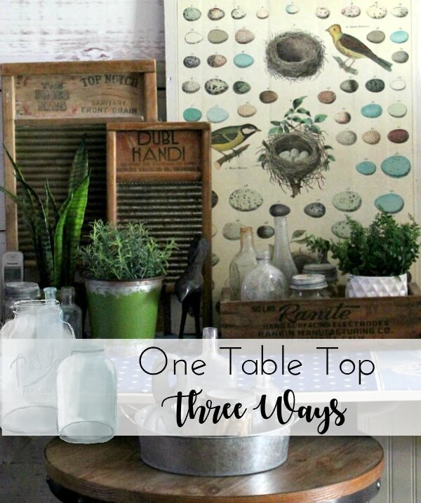 One Living Room Table Top Three Ways