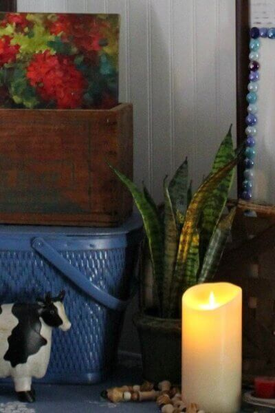 Battery Operated Candle Vignette
