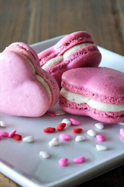 valentines day macaroons