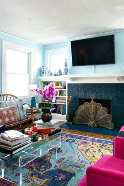 Two Sisters' Colorful Rental Redo On A Tiny Budget