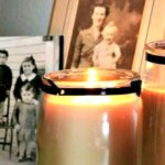 candles and old photos