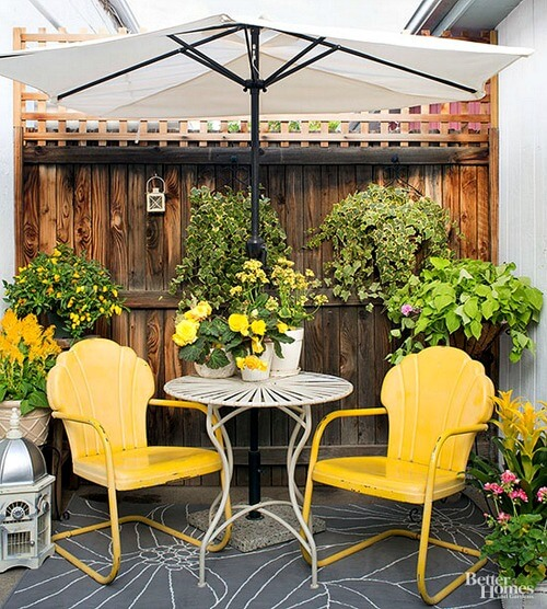 small patio
