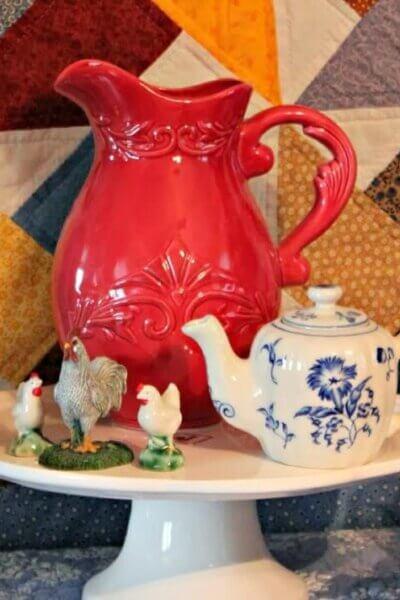 Red pitcher vignette
