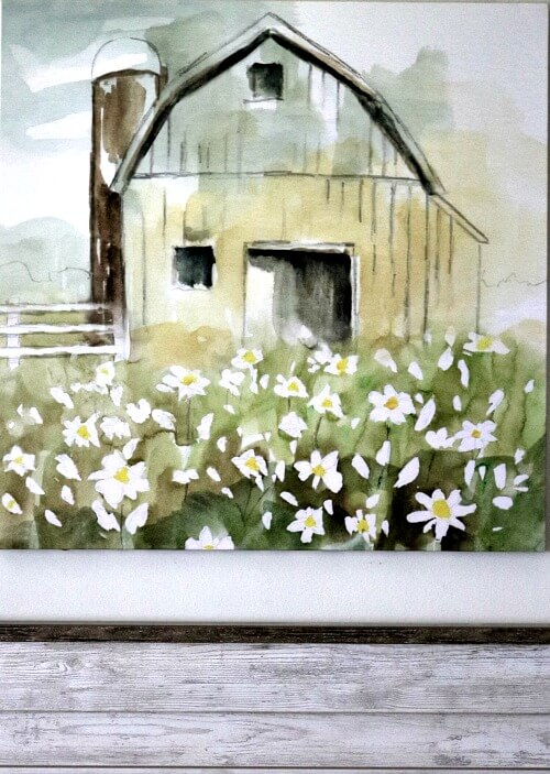 My farmhouse barn painting
