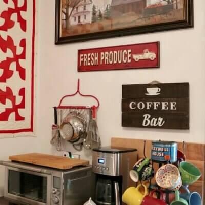 How I Created A Little Coffee Bar