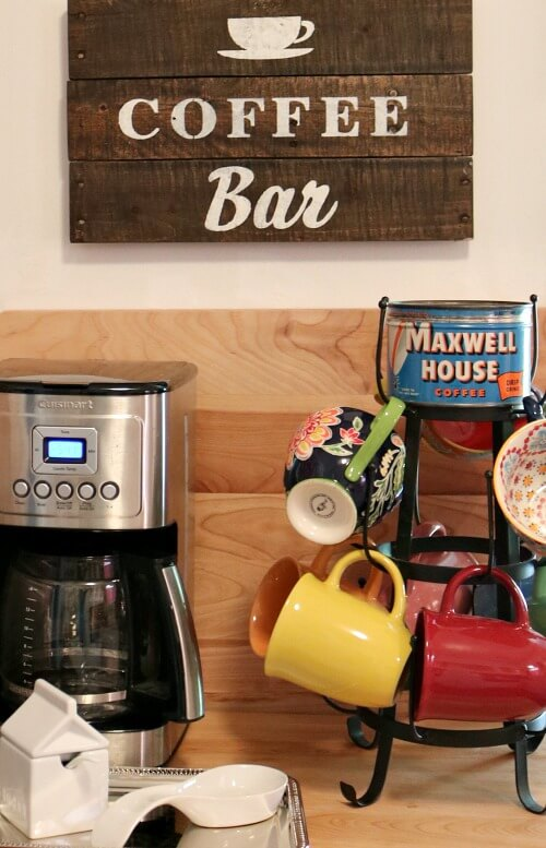 My kitchen cart with Breville oven and mini coffee bar