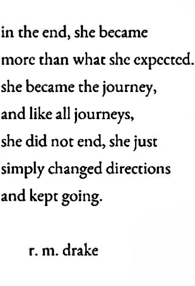 Quote about becoming the journey