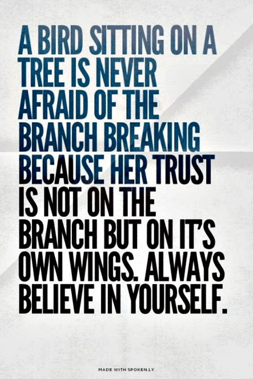 Quote about believing in yourself