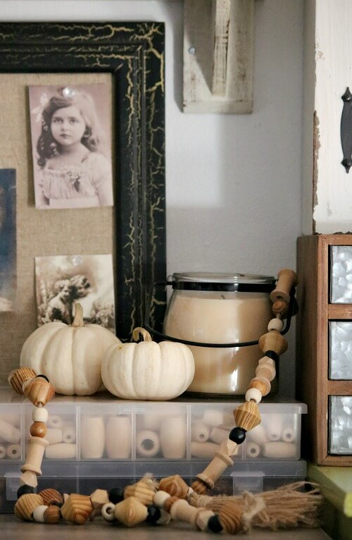 Office area fall decor