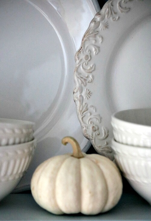 Mini pumpkin in my plate hutch