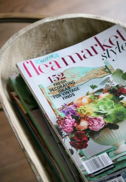 Dough bowl of magazines