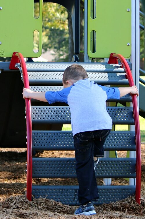 Andrew at the playground