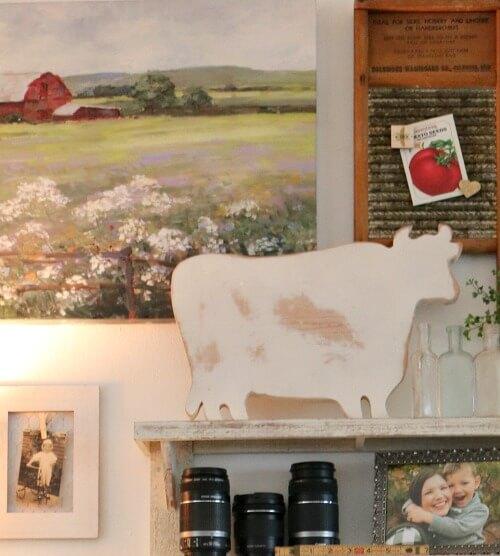 My desk with farmhouse decor