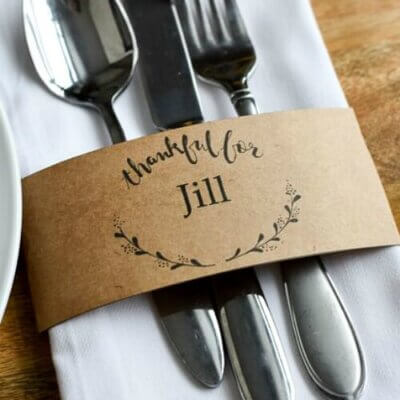 10 Thanksgiving Place Card Ideas For Your Table