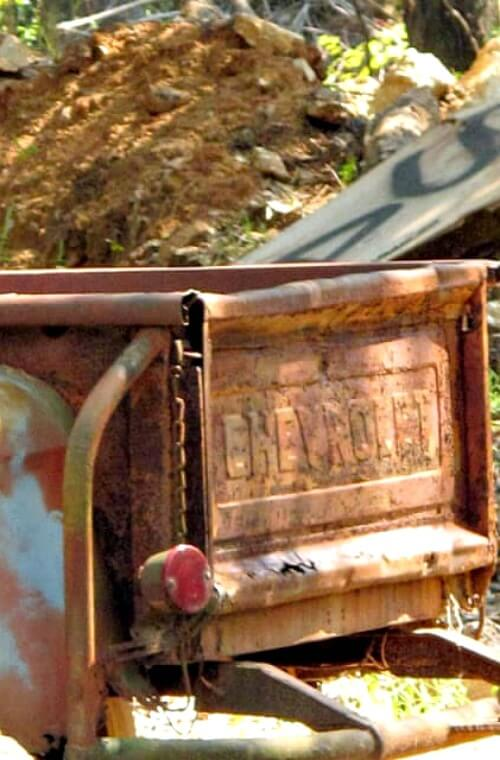 old rusted truck
