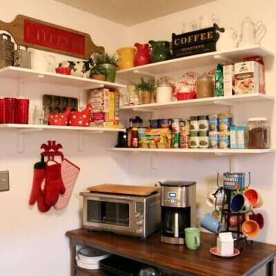 Changing Up The Kitchen Shelves
