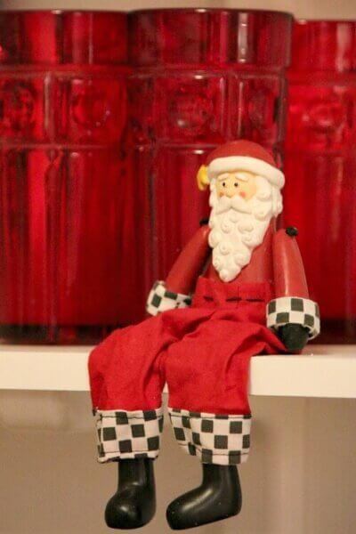Santa on shelf