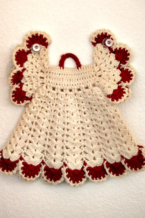 crocheted doll dress