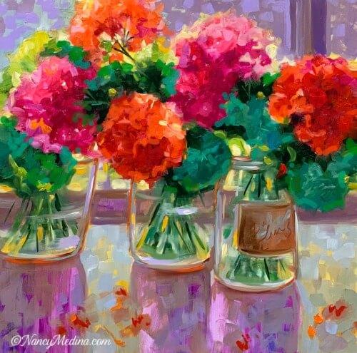 Nancy Medina painting