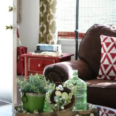 Adding A Touch Of Spring Decor & Small Space Color Tips