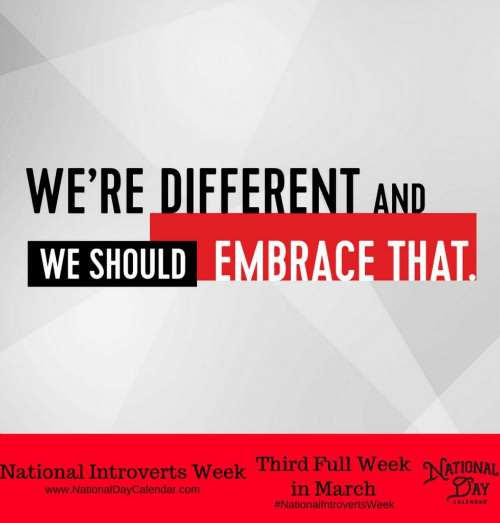 A slogan that says we're different and we should embrace that