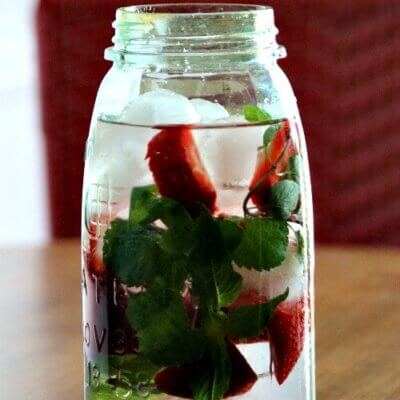 Strawberry & Mint Infused Water