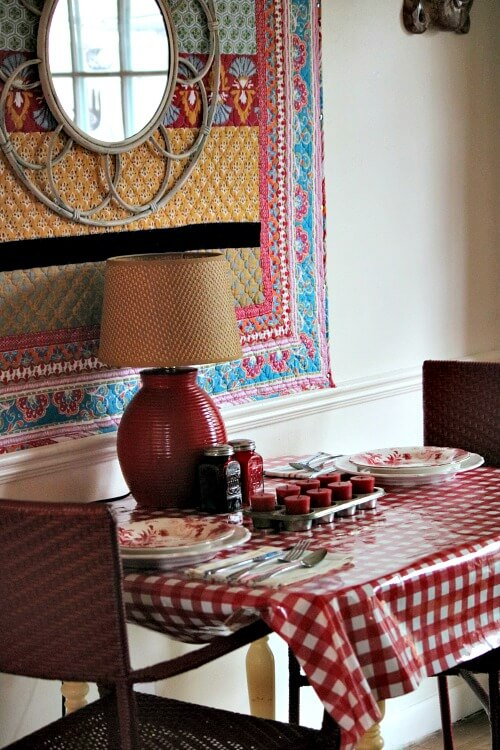 A Rainy Day Red & White Tablescape