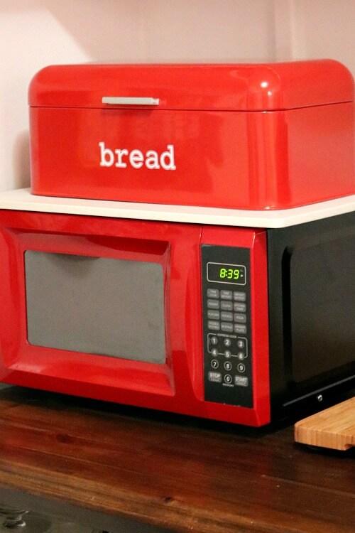 Red & White Bread Box