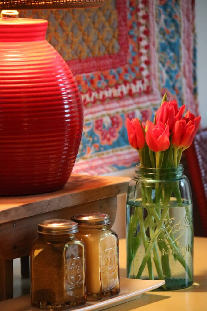 Tulips, Books & A Clarification