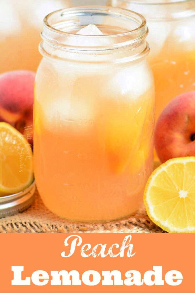 peach lemonade with fresh peaches
