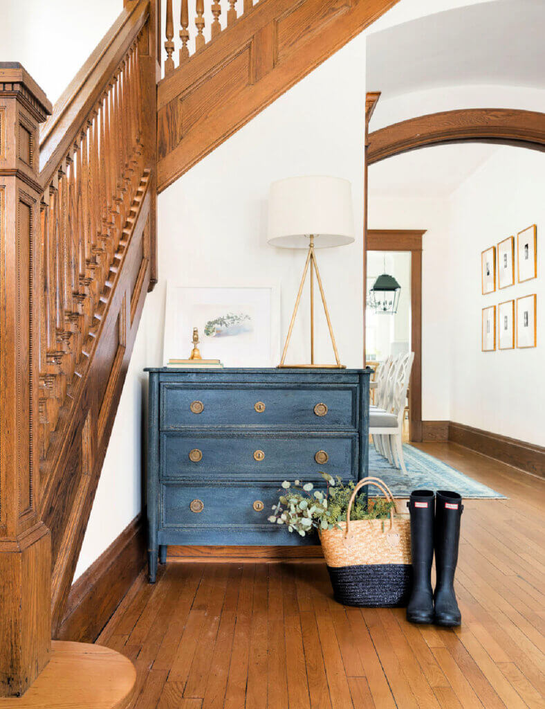 Entryway in charming historical home