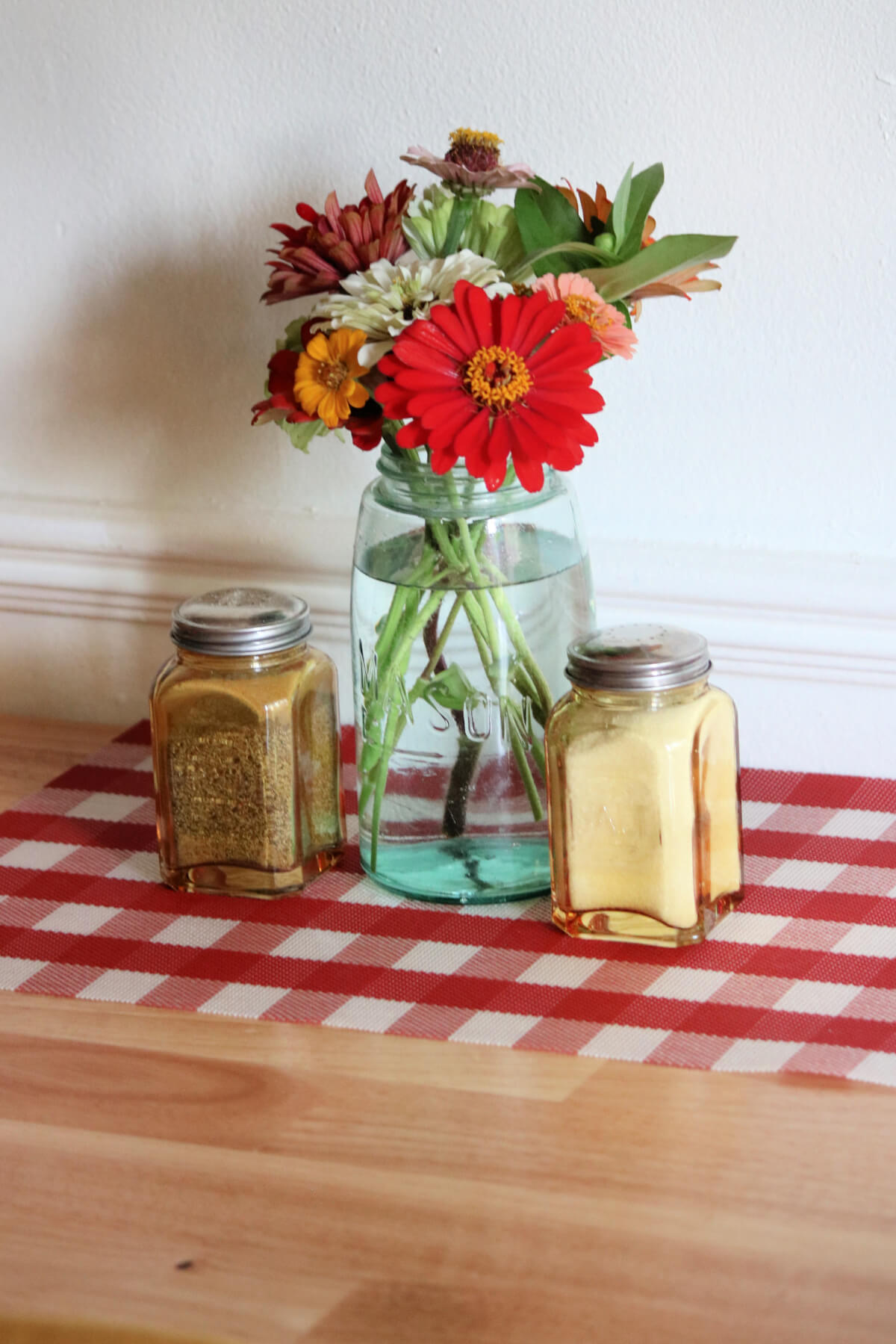 A Jar Of Zinnias & Charlie's Ashes