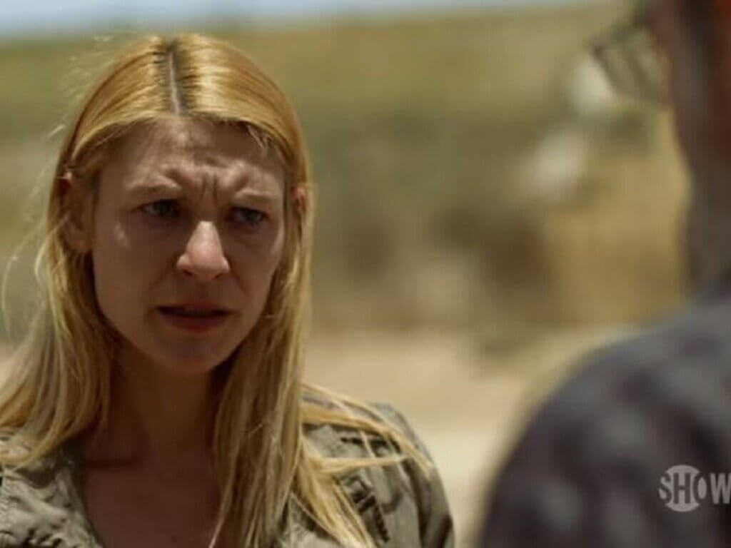 A photo of Claire Danes in the show Homeland