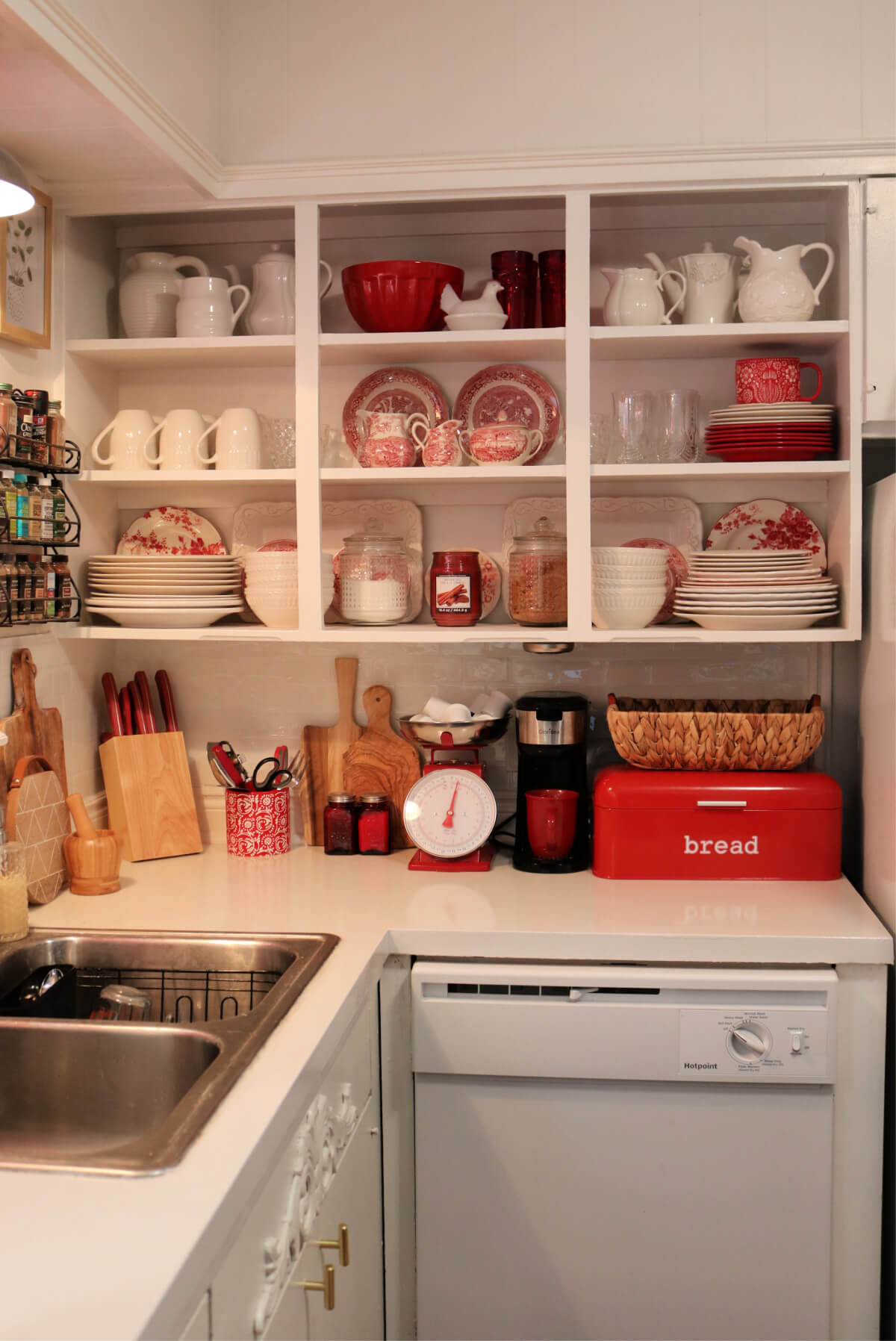 Cleaning & Rearranging Open Kitchen Cabinets