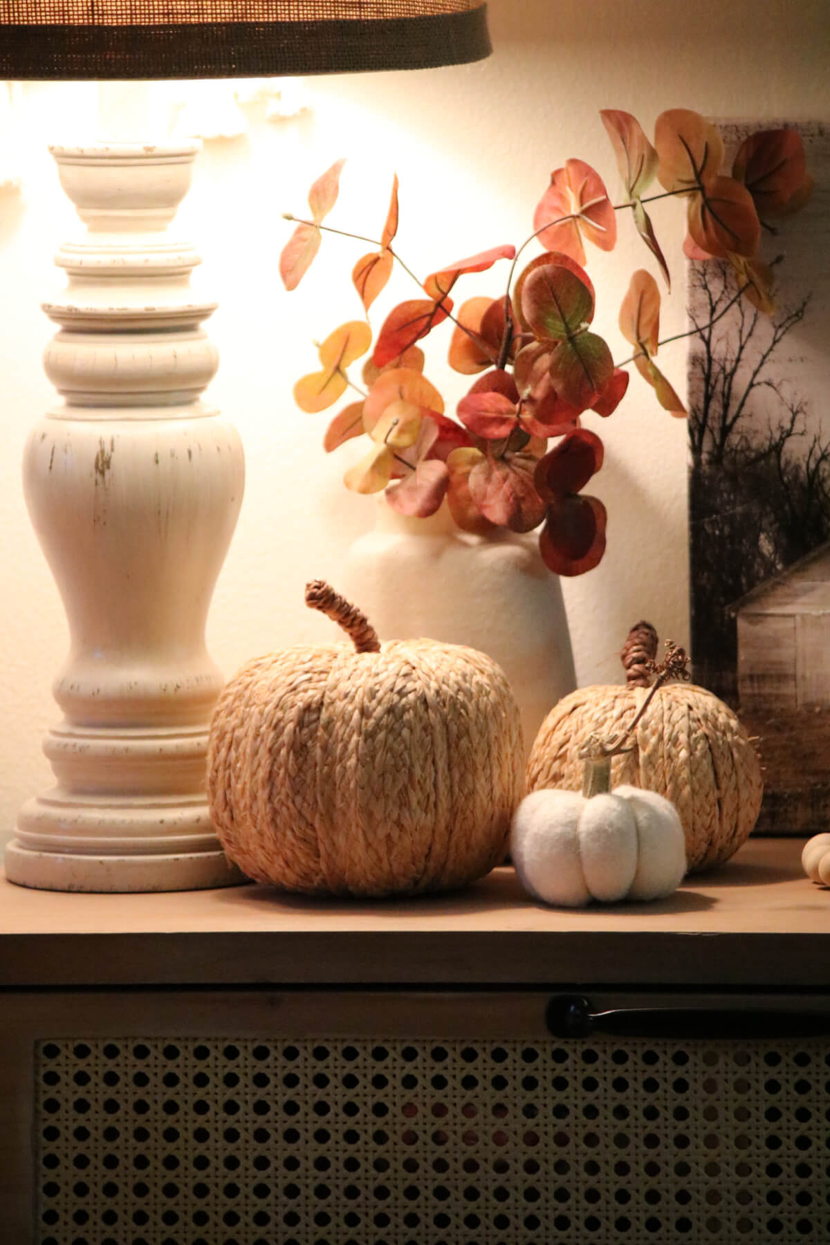 Fall Vignettes In The Living/Dining Spaces