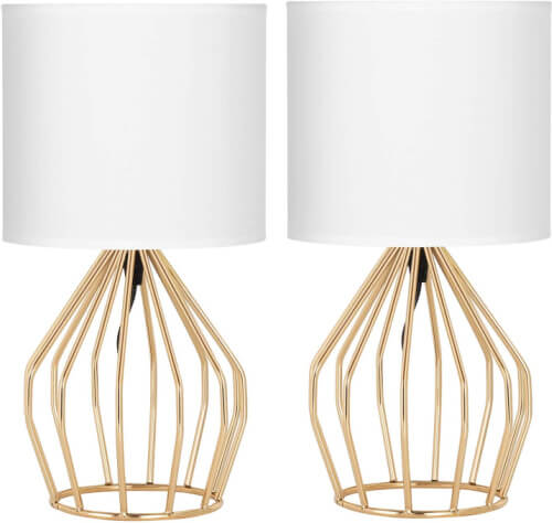 two favorite gold table lamp with open base