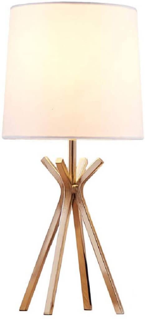 favorite gold table lamp with tepee style base